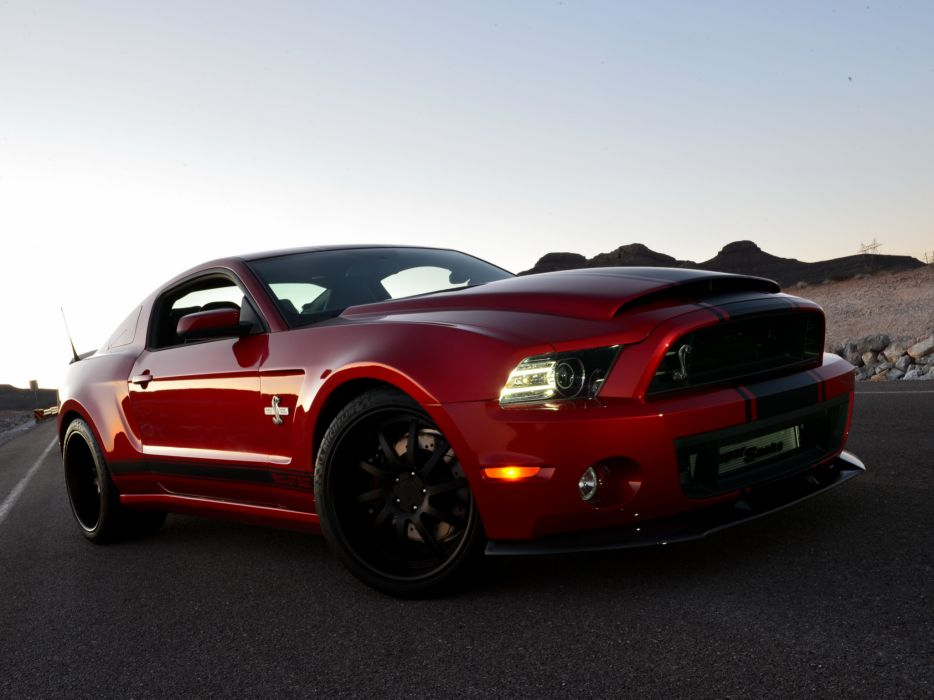Ford Shelby GT500 Super Snake Wide Body Red Headlights Front muscle cars roads wallpaper