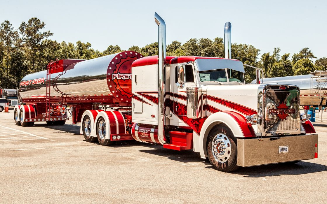 Peterbilt Trucks 389 Stripes tractor semi wallpaper