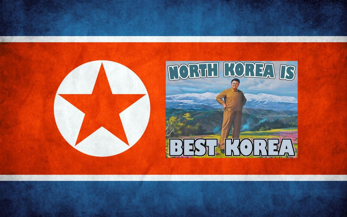 north korea flags wallpaper