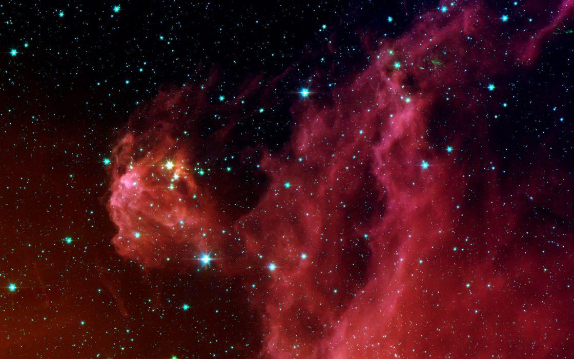 sci fi nebula stars wallpaper