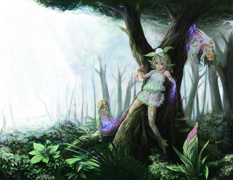 original art fantasy nature trees forest nymph fairy wallpaper