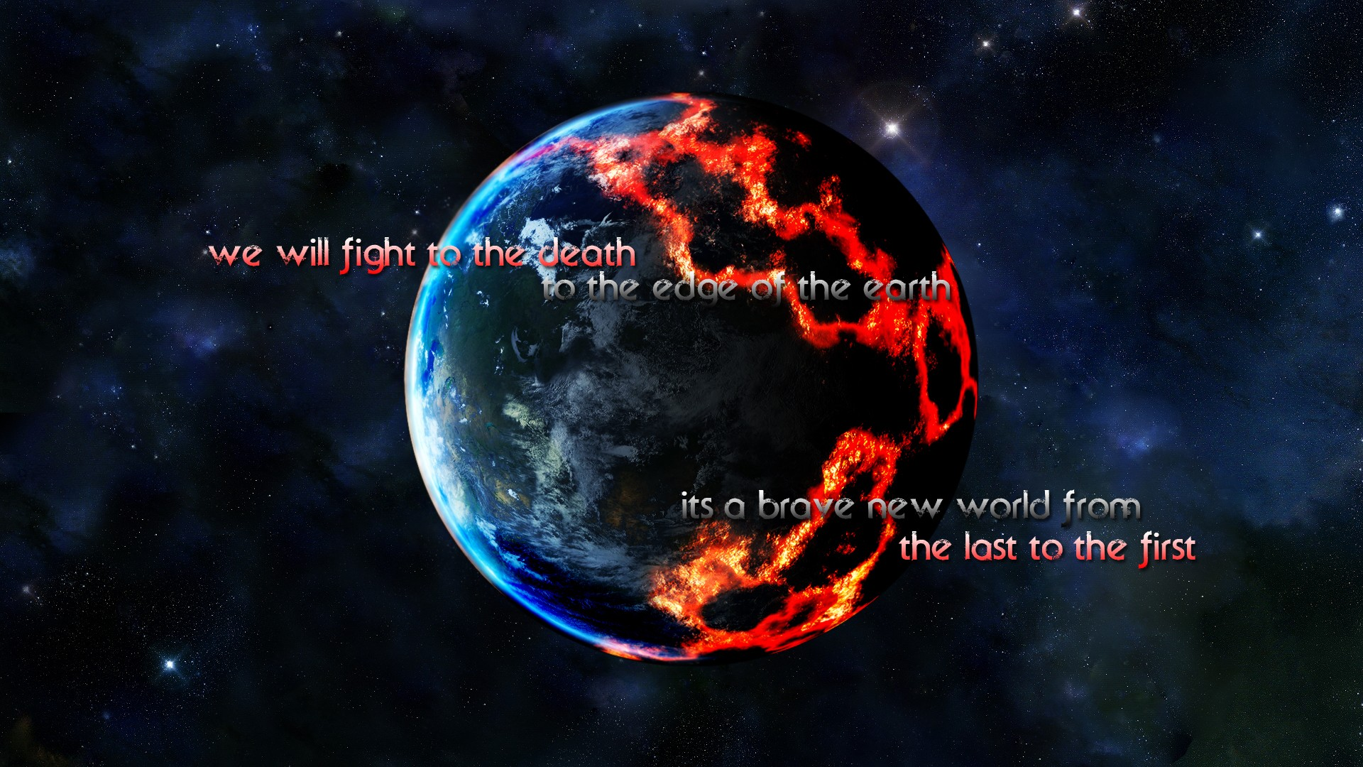 Sci Fi Quotes Planets Stars Wallpaper