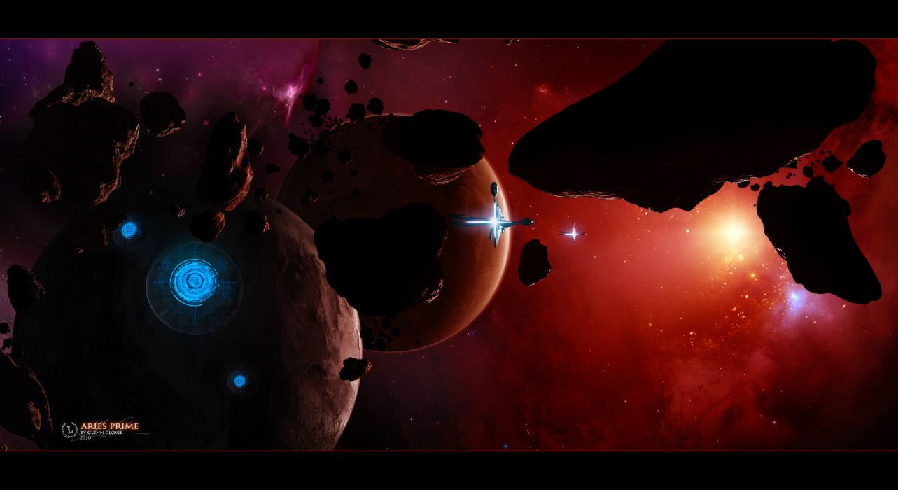 sci fi outer space planets stars spaceships spacecrafts wallpaper