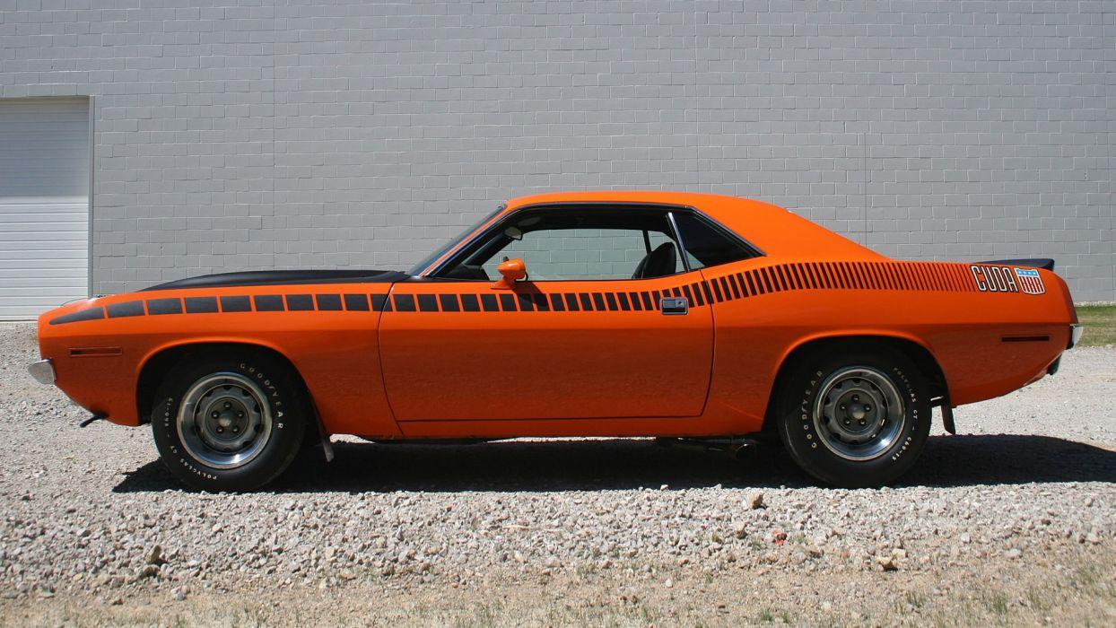 Muscle Cars USA Plymouth Barracuda classic orange wallpaper