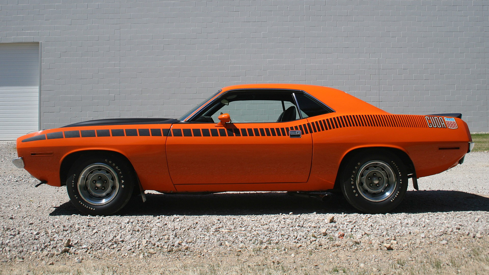 Muscle Cars Usa Plymouth Barracuda Classic Orange Wallpaper