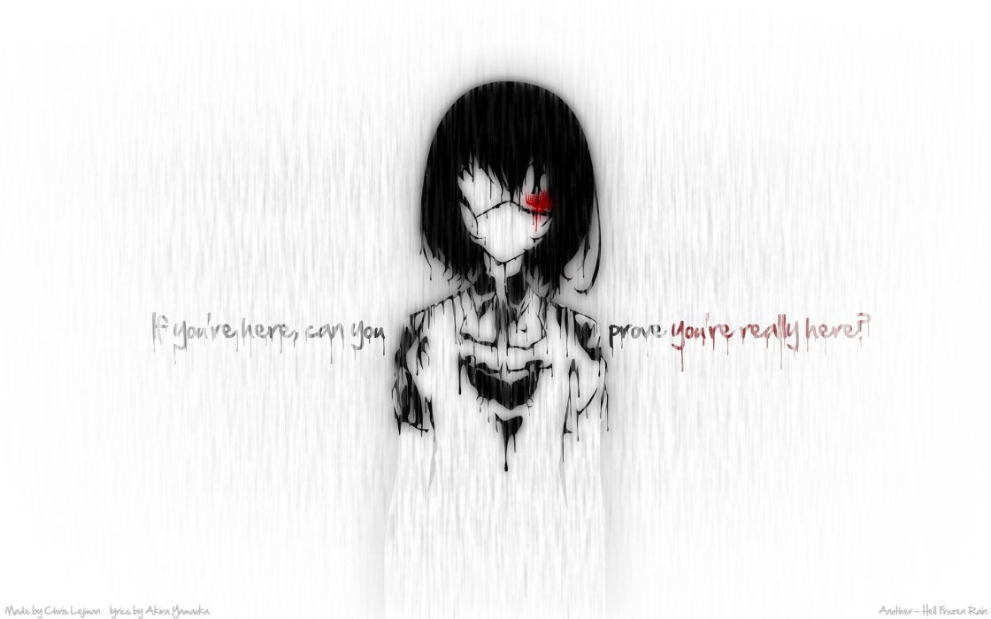 Another Series Mei Misaki Character text quotes wallpaper
