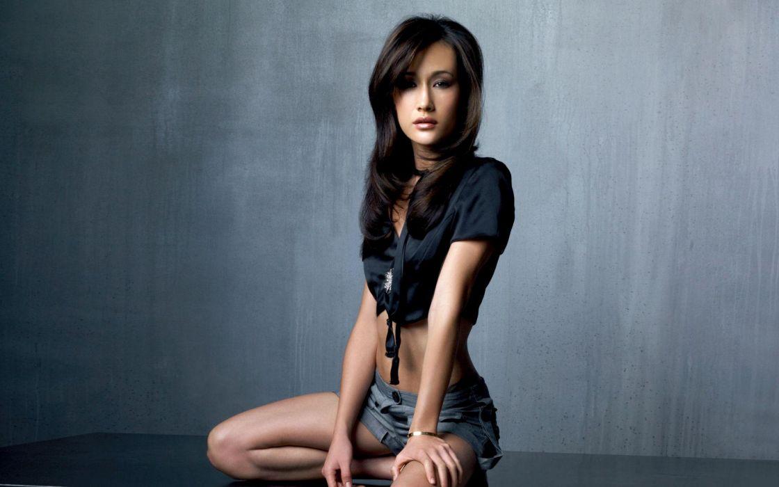 Maggie Q actress asian oriental women model brunettes sexy babes wallpaper