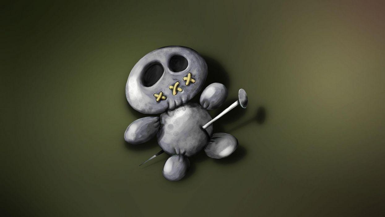 dark horror voodoo emo skulls wallpaper