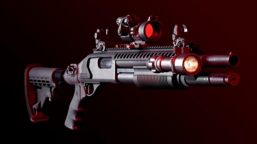 assault rifles shotgun military police guns wallpaper