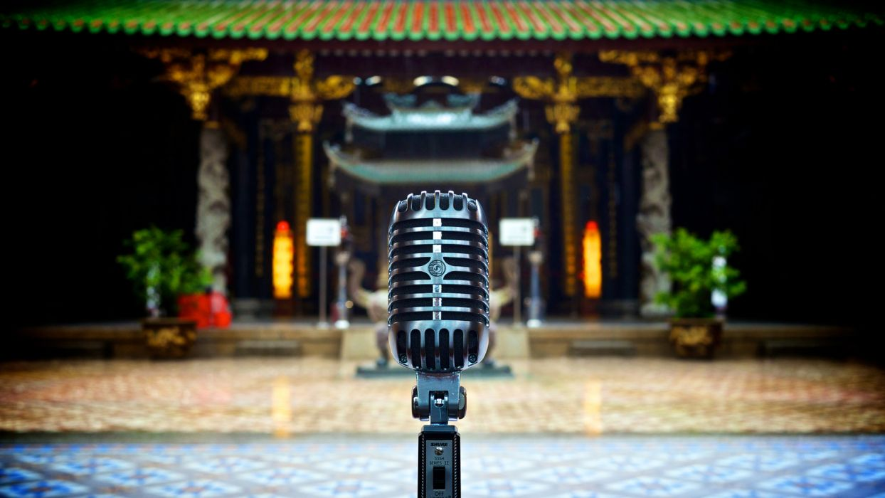 microphone asian oriental tech wallpaper