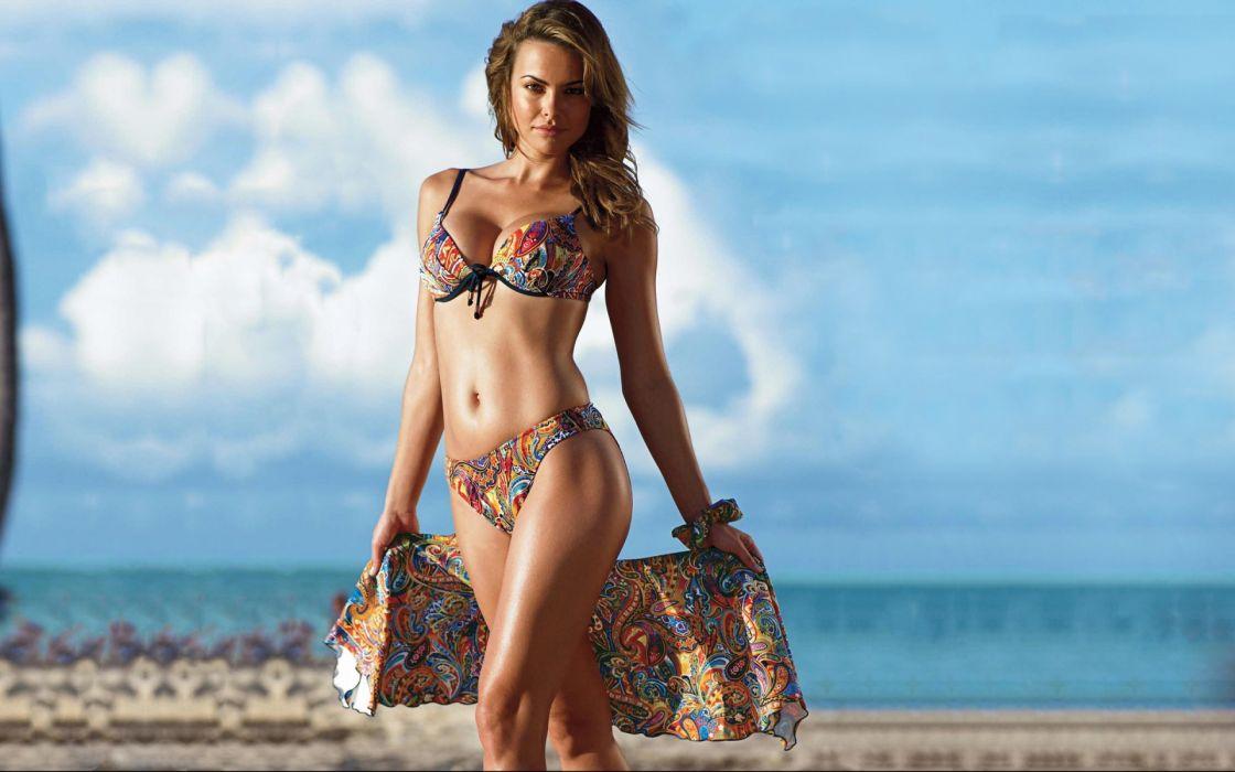 Fernanda Mello women faqshion model brunettes sexy babes bikini swimwear wallpaper