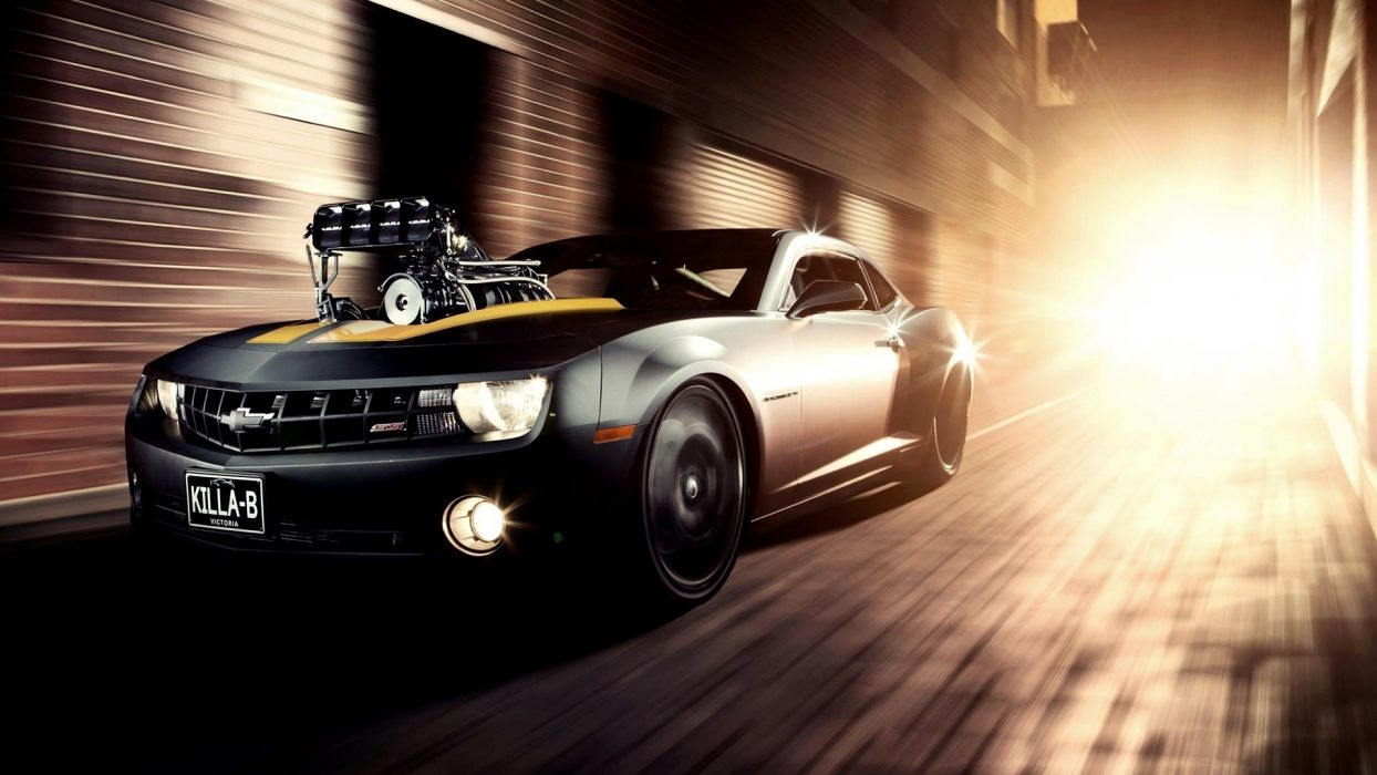 chevrolet camaro hot rod muscle cars roads engine custom wallpaper