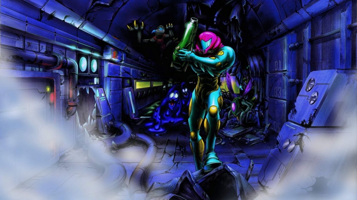 metroid video games samus aran metroid fusion sci fi warriors futuristic art wallpaper