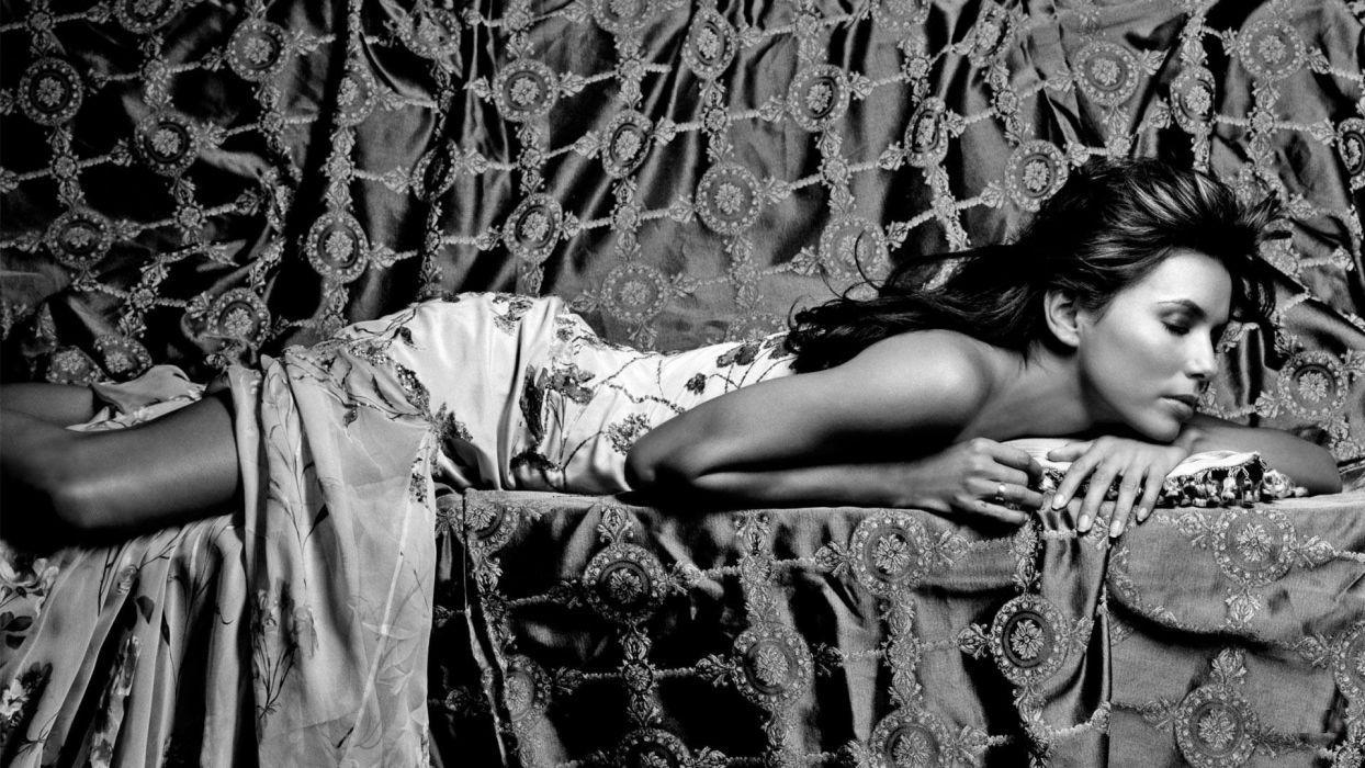 Eva Longoria chromatic black white glamor actress women model brunettes sexy babes fashion wallpaper