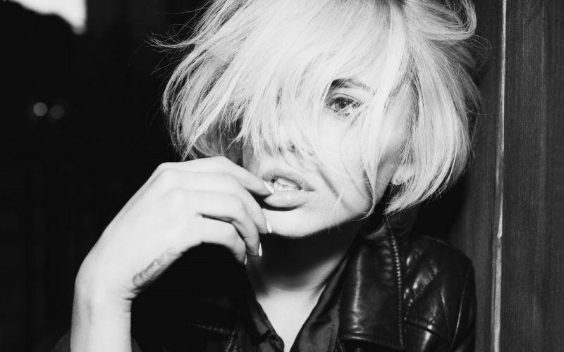 Alysha Nett music black white face lips women model fashion glamor blondes sexy babes wallpaper