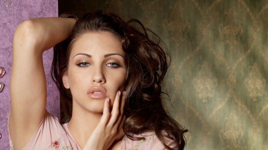 Celeste Star women adult model brunettes sexy babes face wallpaper