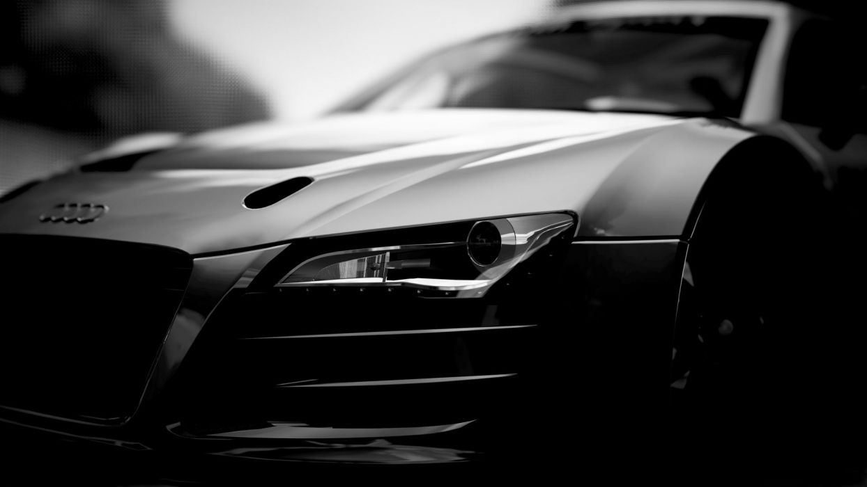 Audi R8 CG BW wallpaper
