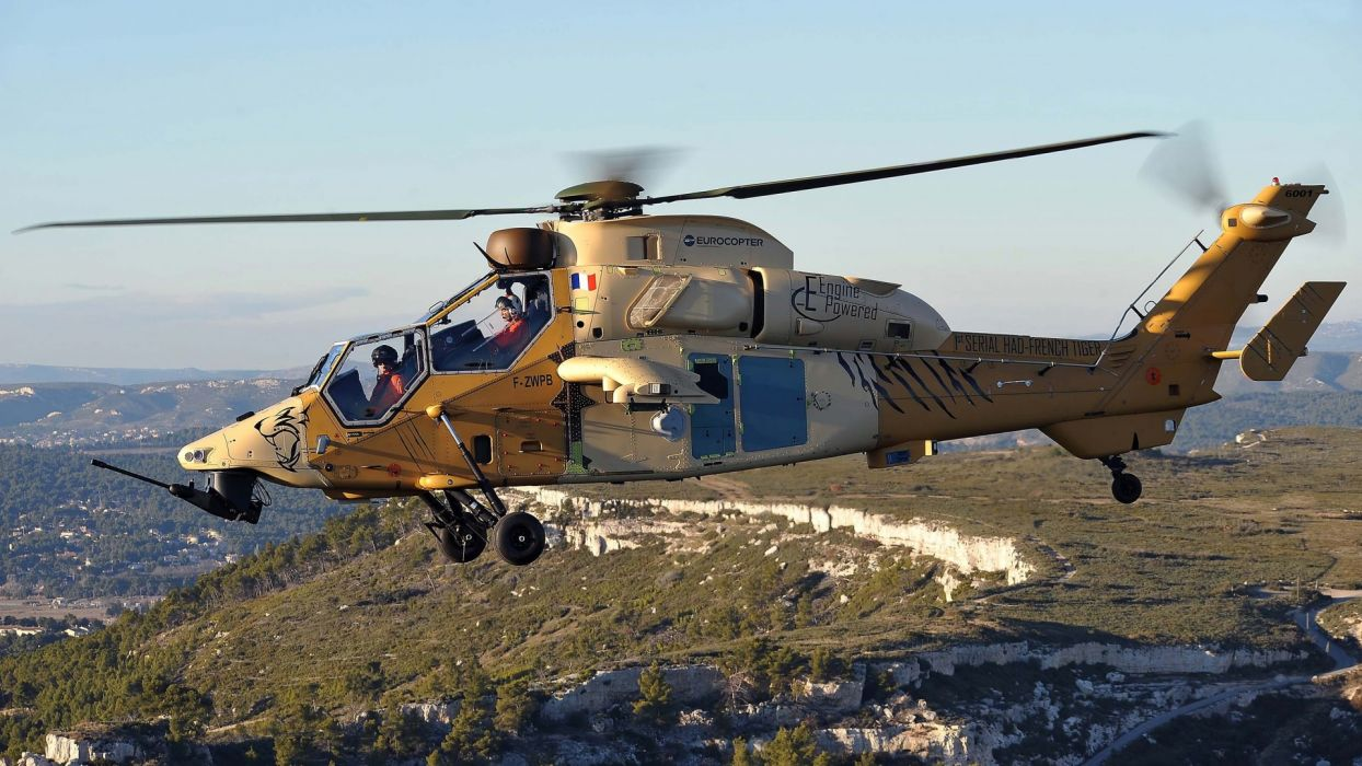 helicopter EC 665 Tiger Eurocopte military weapons wallpaper