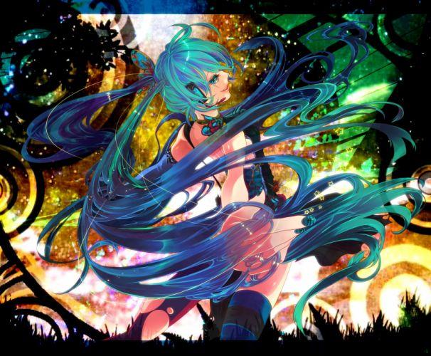 Vocaloid Girls vector art wallpaper