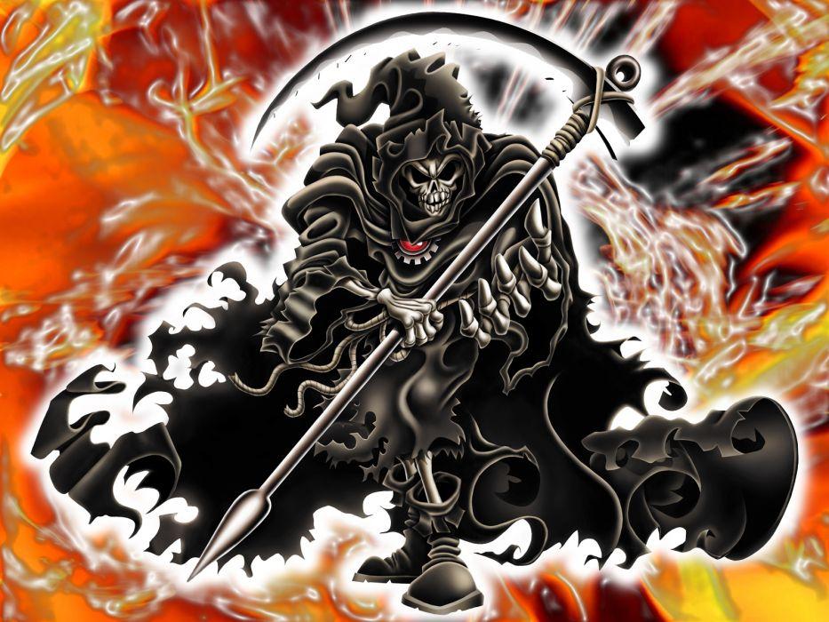 Dark Horror Gothic Evil Death Grim Reaper Weapons Scythe