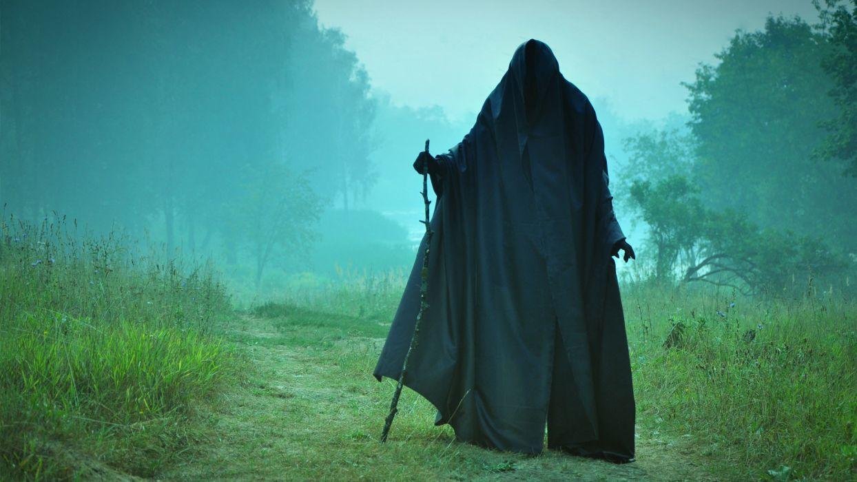 dark horror grim reaper gothic death landscapes mood spirits ghost halloween wallpaper