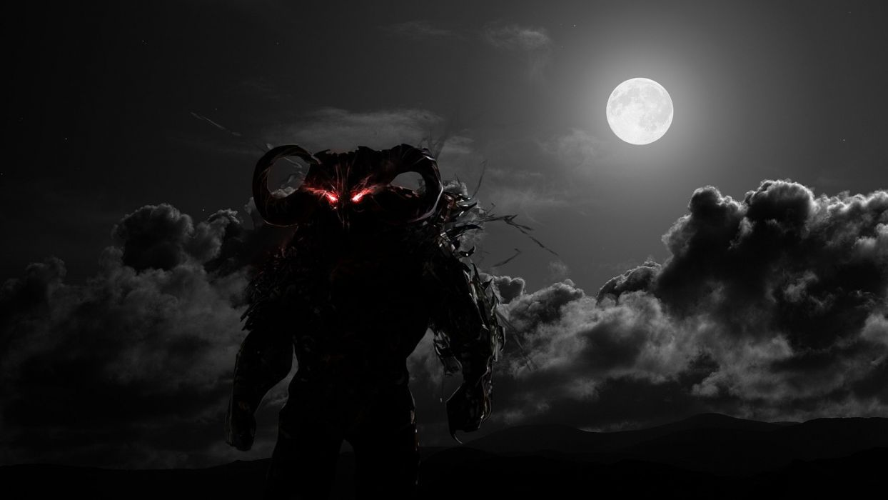 prince of persia dahaka warriors fantasy demons video games monster horror dark sky clouds moon wallpaper