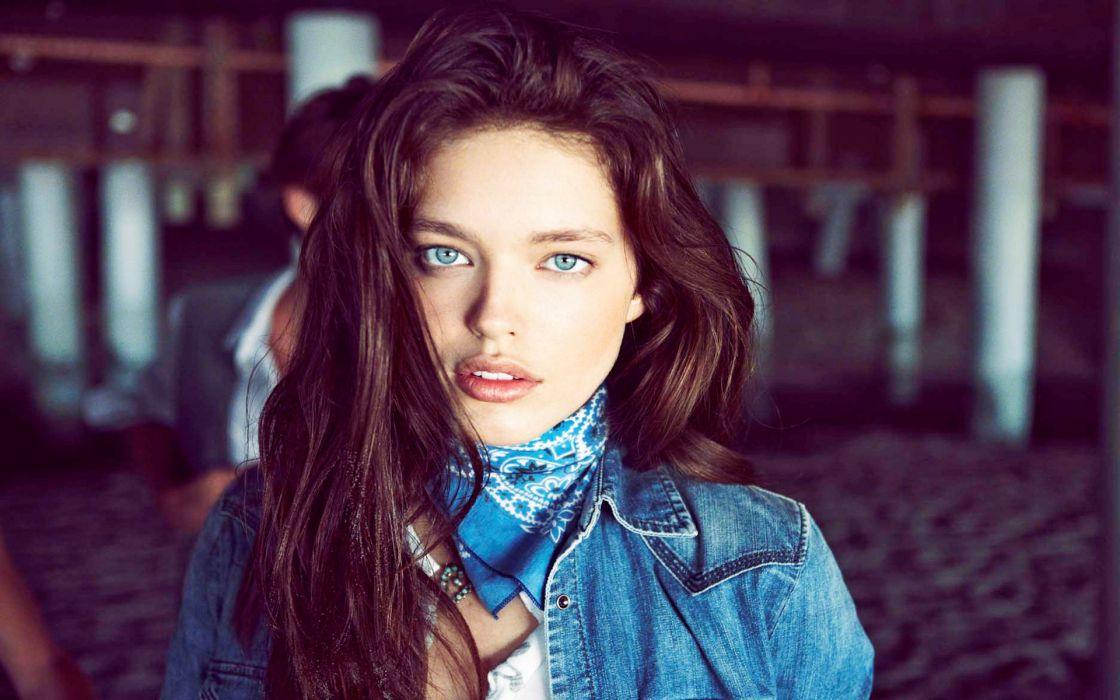 Emily Didonato women model fashion brunettes sexy babes face wallpaper