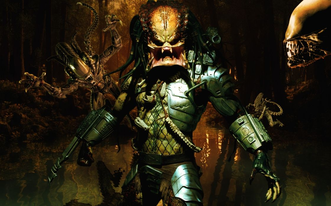 Predator aliens sci fi video games monsters tech futuristic wallpaper