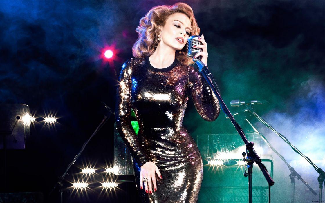 Kylie Minogue music singer pop actress celeb women model fashion blondes sexy babes wallpaper