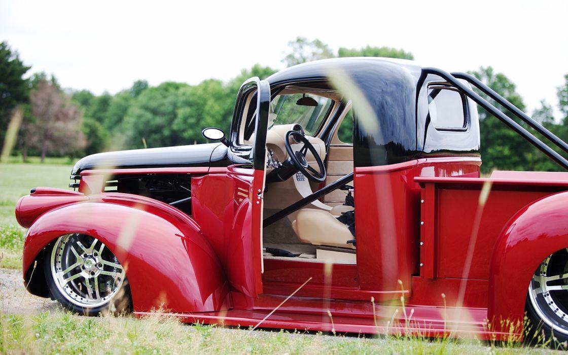 1946 Chevrolet Pickup hot rod tuning custom retro muscle low wallpaper