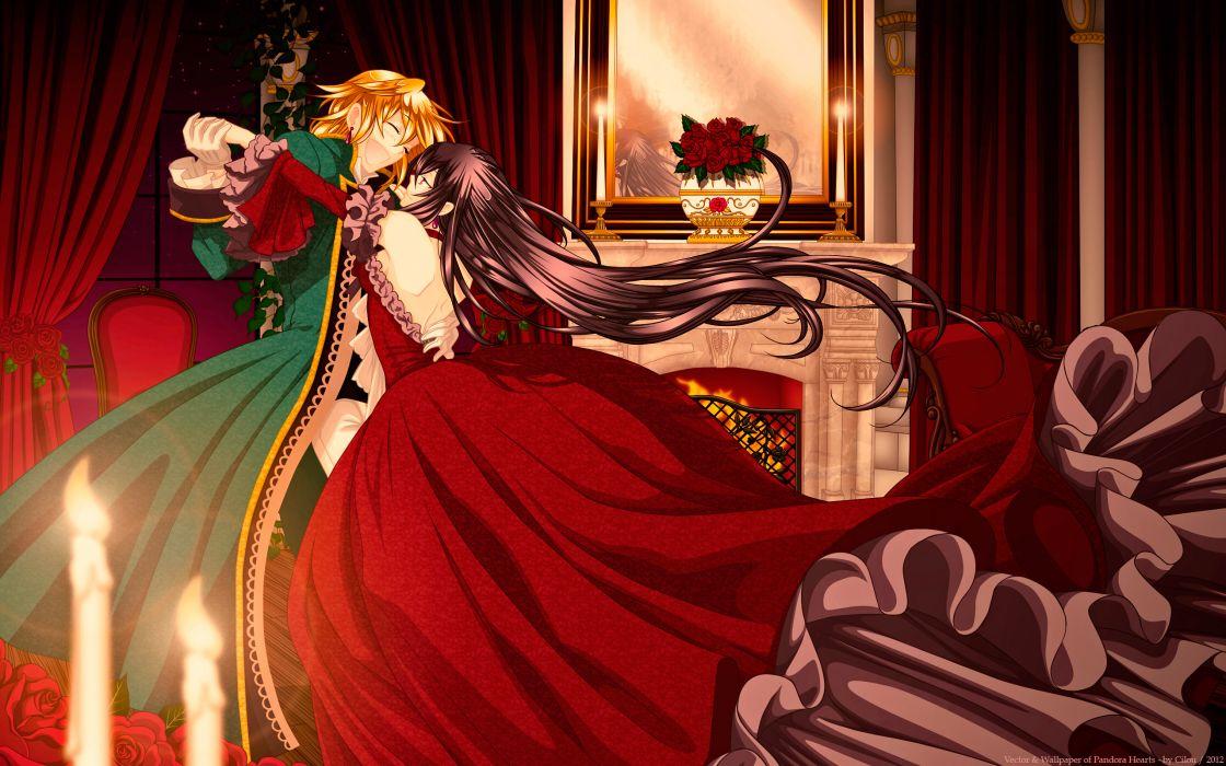 Pandora Hearts Girls dance love romance embrace mood women girl men boy vector art wallpaper