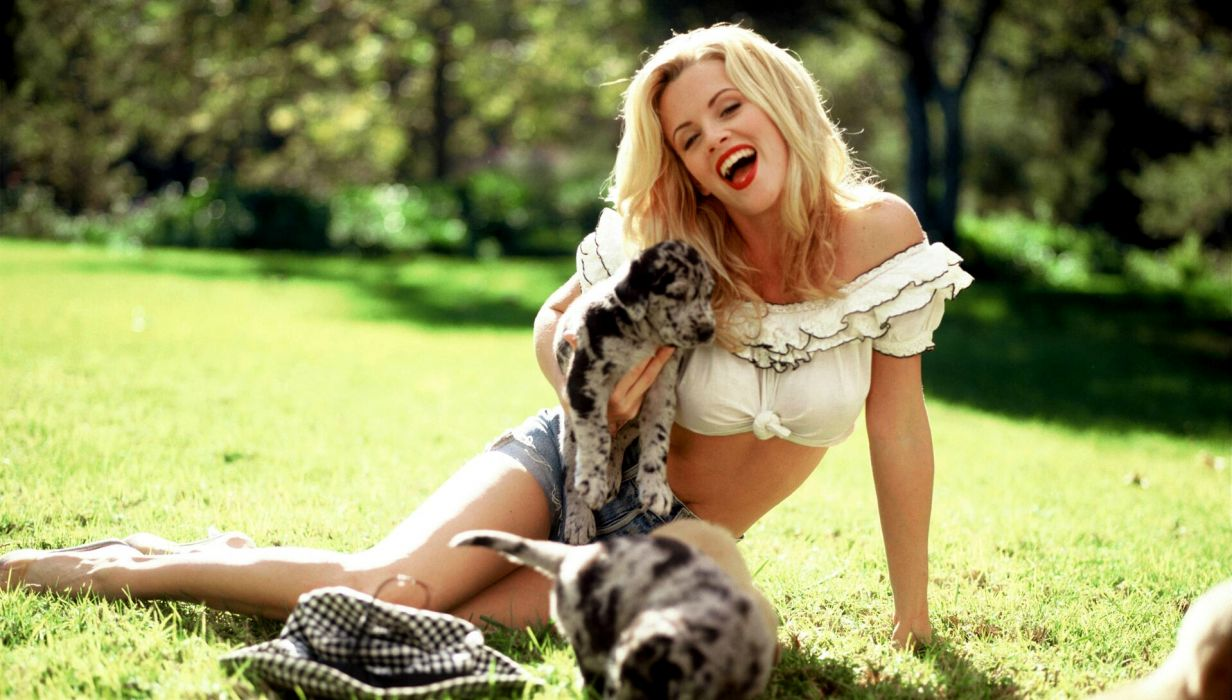 Jenny Mccarthy actress puppy dogs women model blondes sexy babes celeb wallpaper