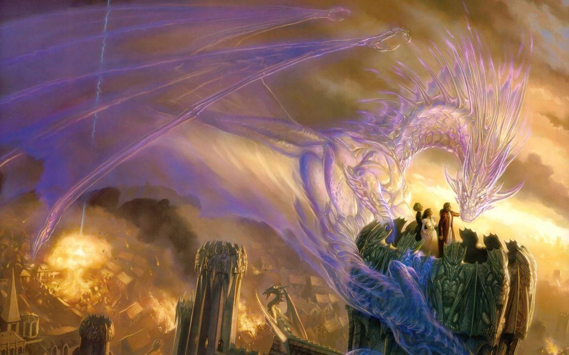 fantasy art dragons wallpaper