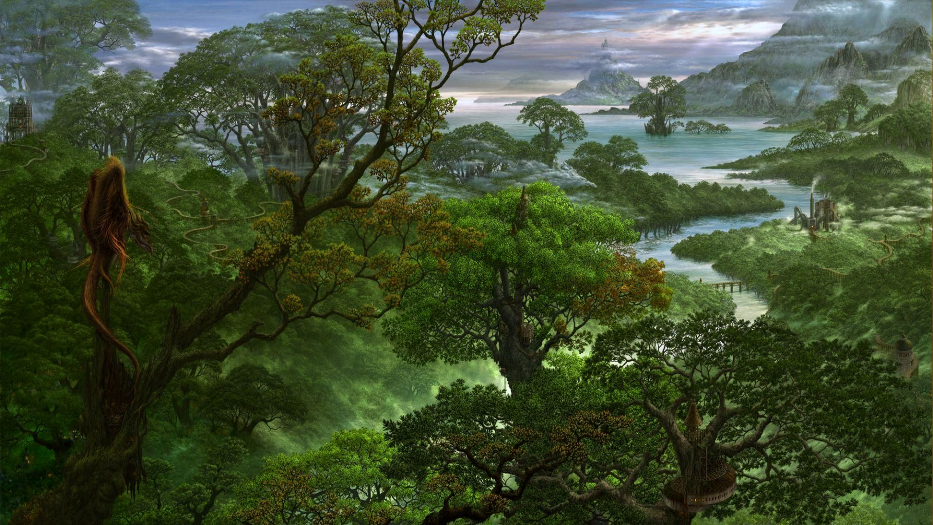Fantasy Forest Landscape Wallpapers Photo : Fantasy Wallpaper ...