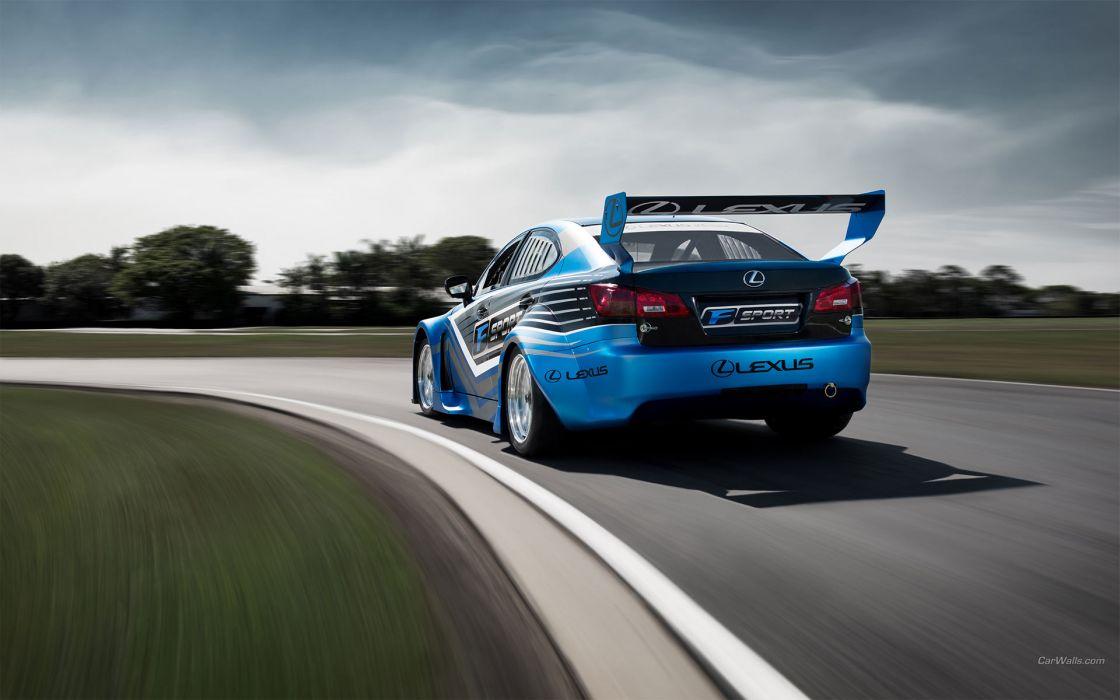 Lexus IS-F V8 Superstar International Series racing track race wallpaper