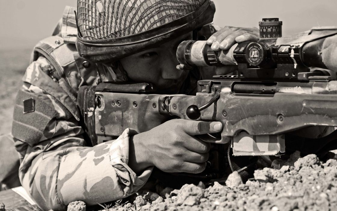 military sniper warriors soldiers weapons guns wallpaper