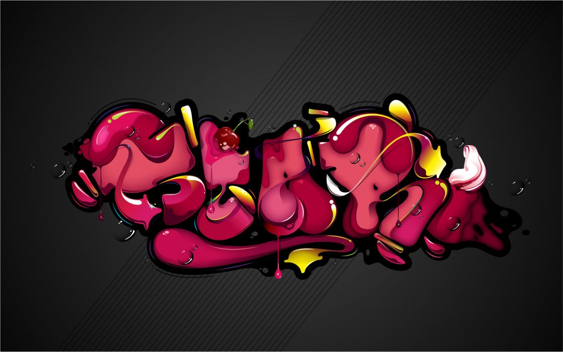 cg digital art 3d graffiti color urban wallpaper