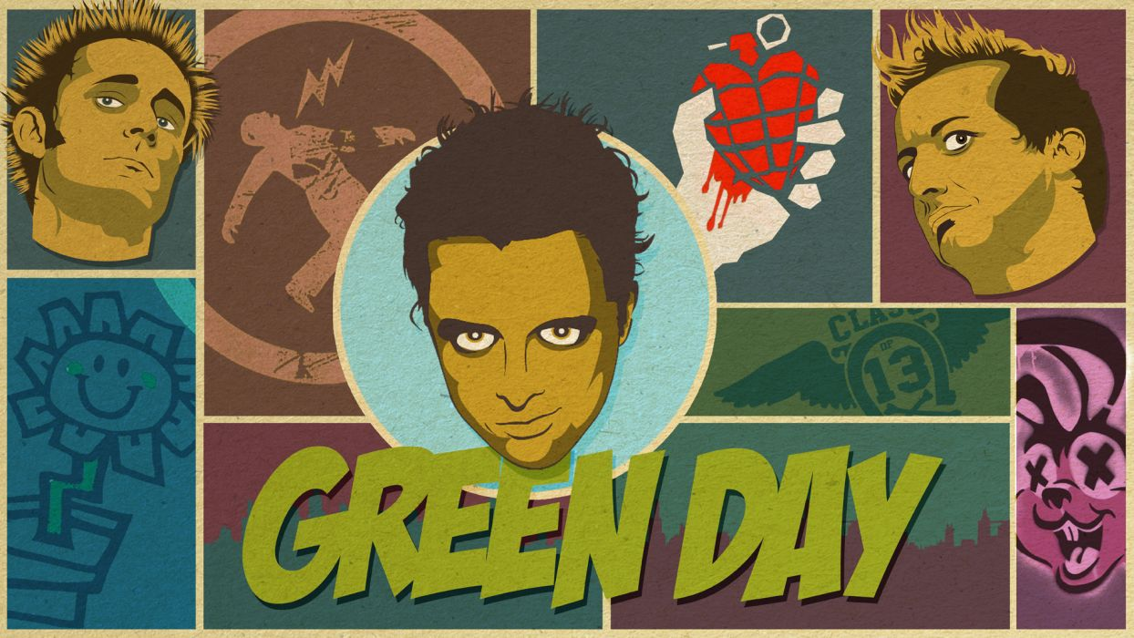 Green Day punk bands groups wallpaper