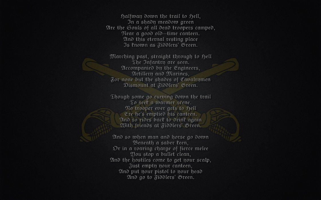 Fiddler's Green Poem military warriors soldier marines wallpaper