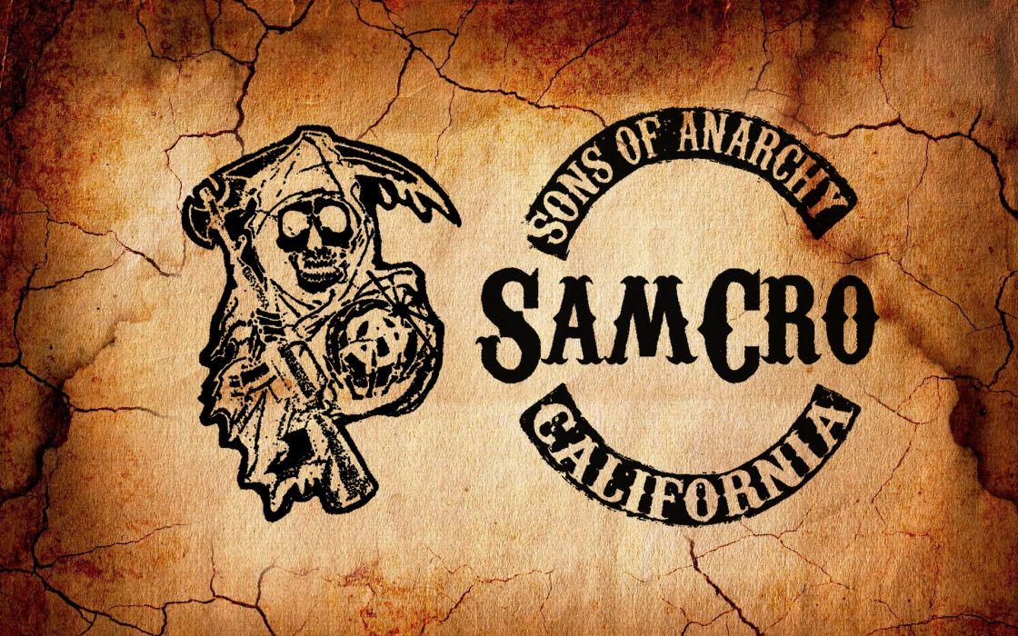 Sons of Anarchy dark horror grim reaper biker motorcycle skull wallpaper