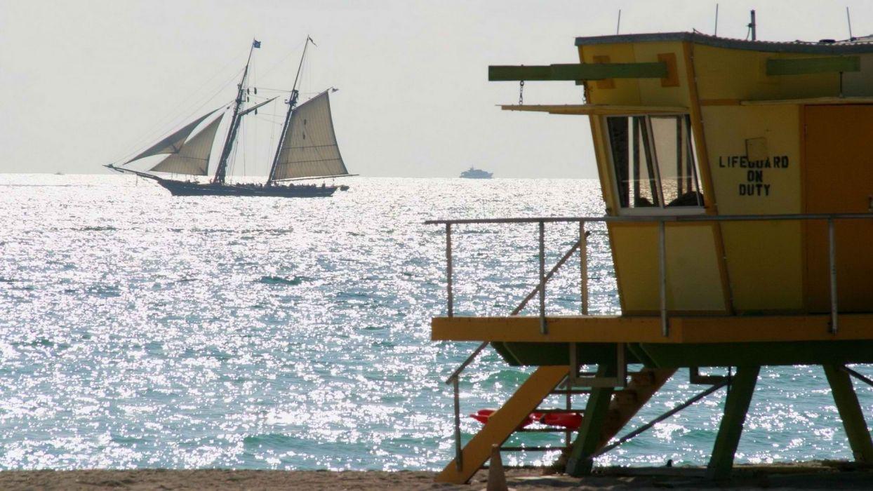 beaches ocean sea watercrafts sailing sail boats life wallpaper