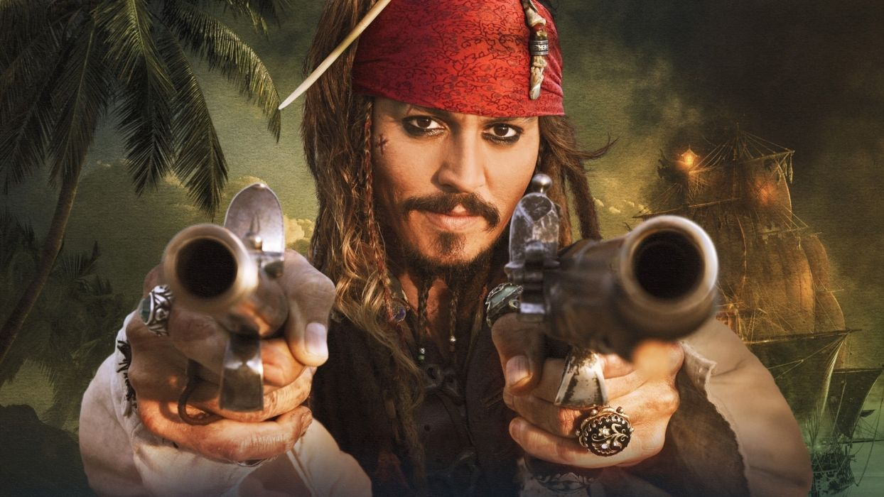 guns movies pirates of the caribbean johnny depp actors captain jack sparrow wallpaper