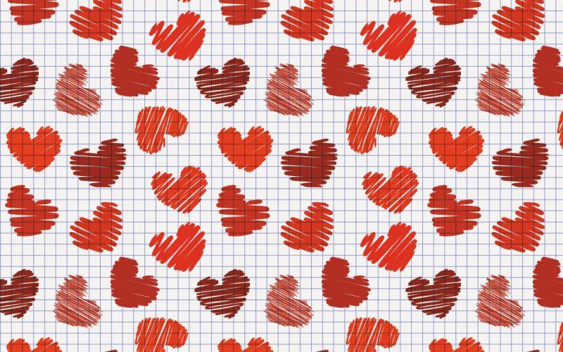 hearts love romance wallpaper
