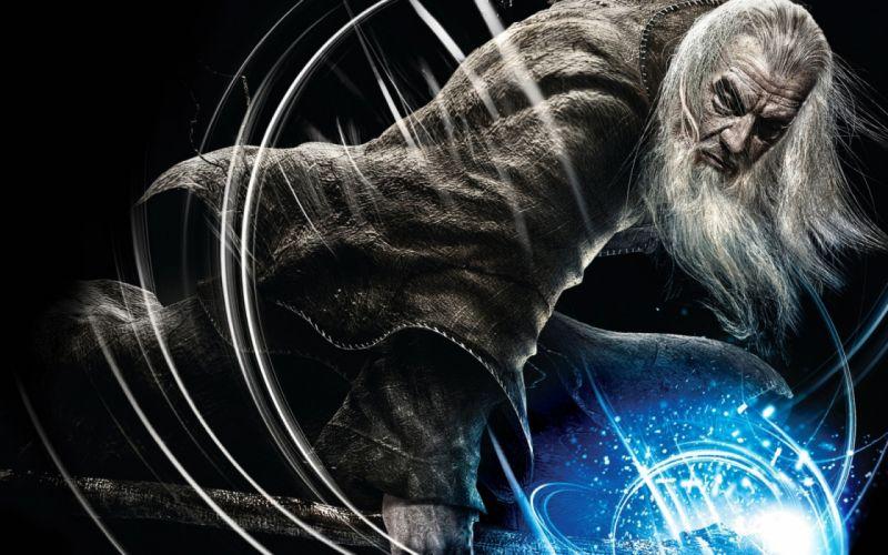 Gandalf hobbit lord rings fantasy art wizard magician wallpaper
