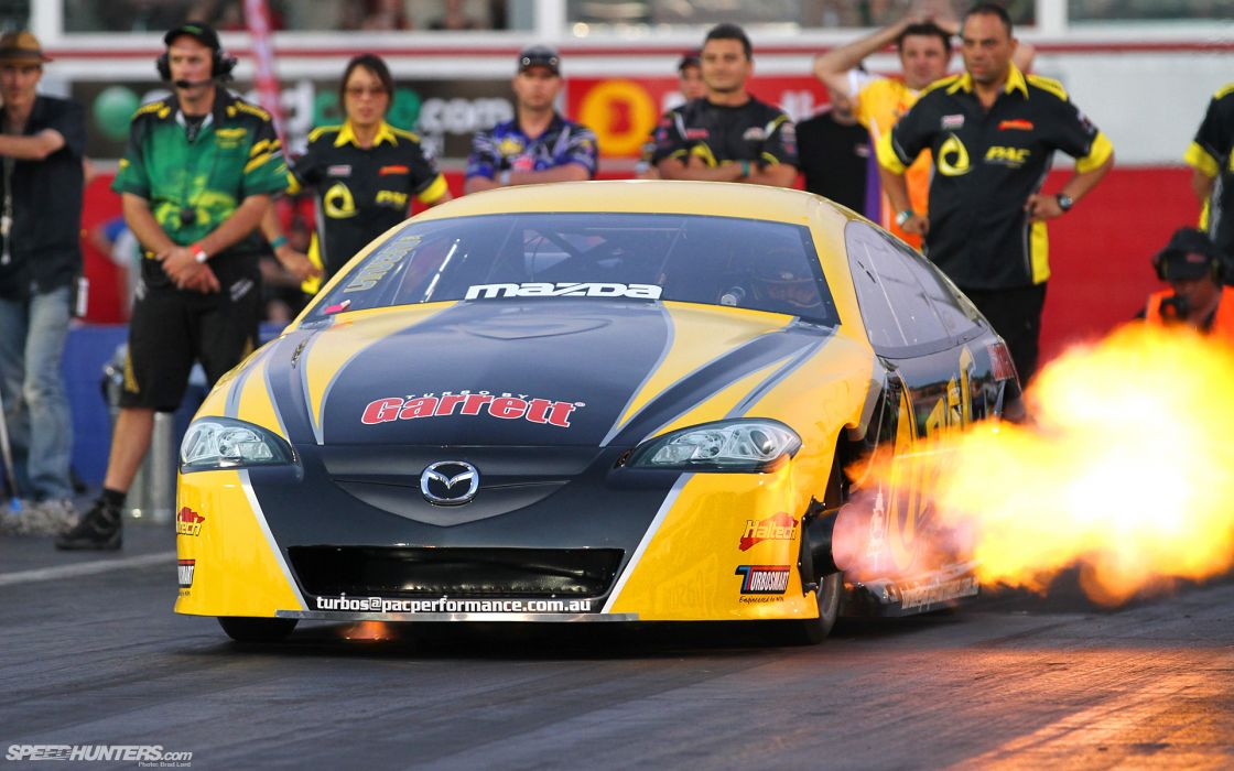 MAZDA ROTARY DT1 drag racing hot rod fire race wallpaper