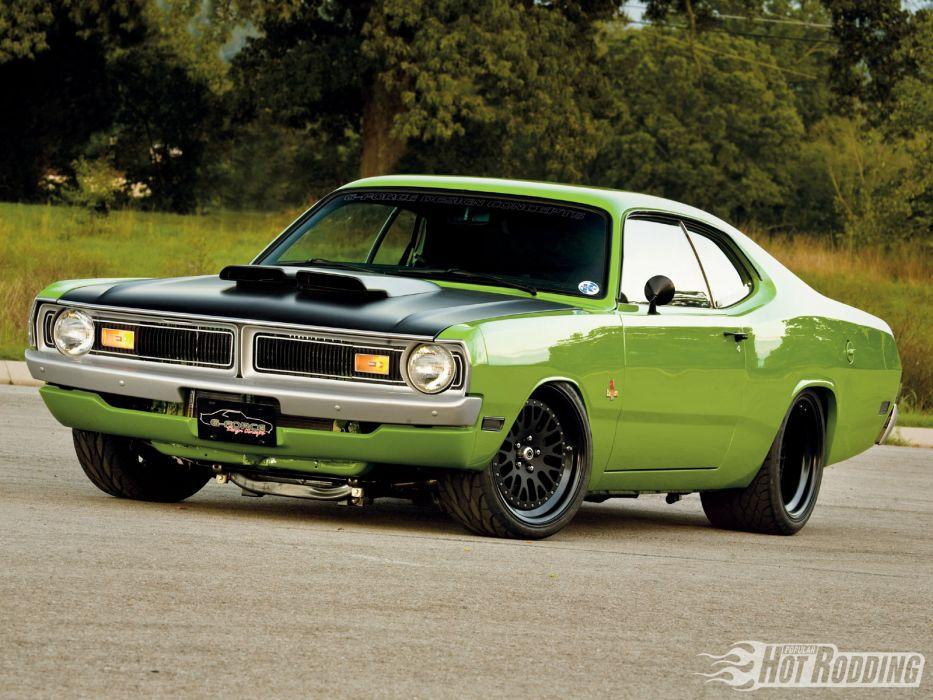 Dodge Demon hot rod muscle cars classic wallpaper