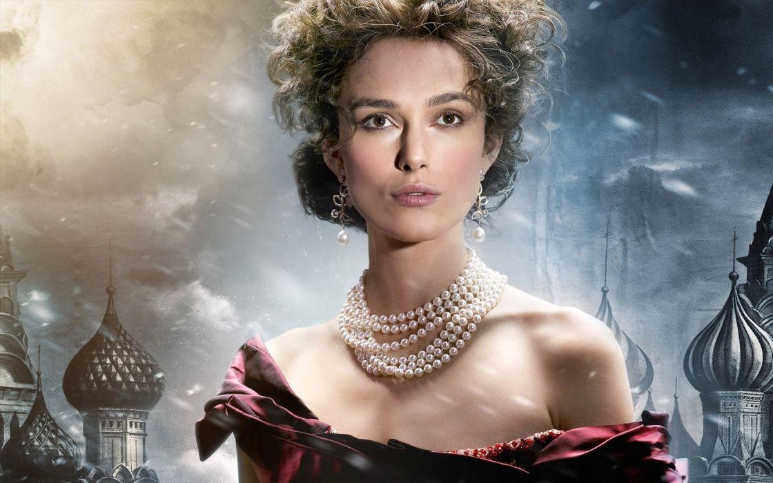 Anna Karenina Keira Knightley women actress brunette sexy babes face wallpaper