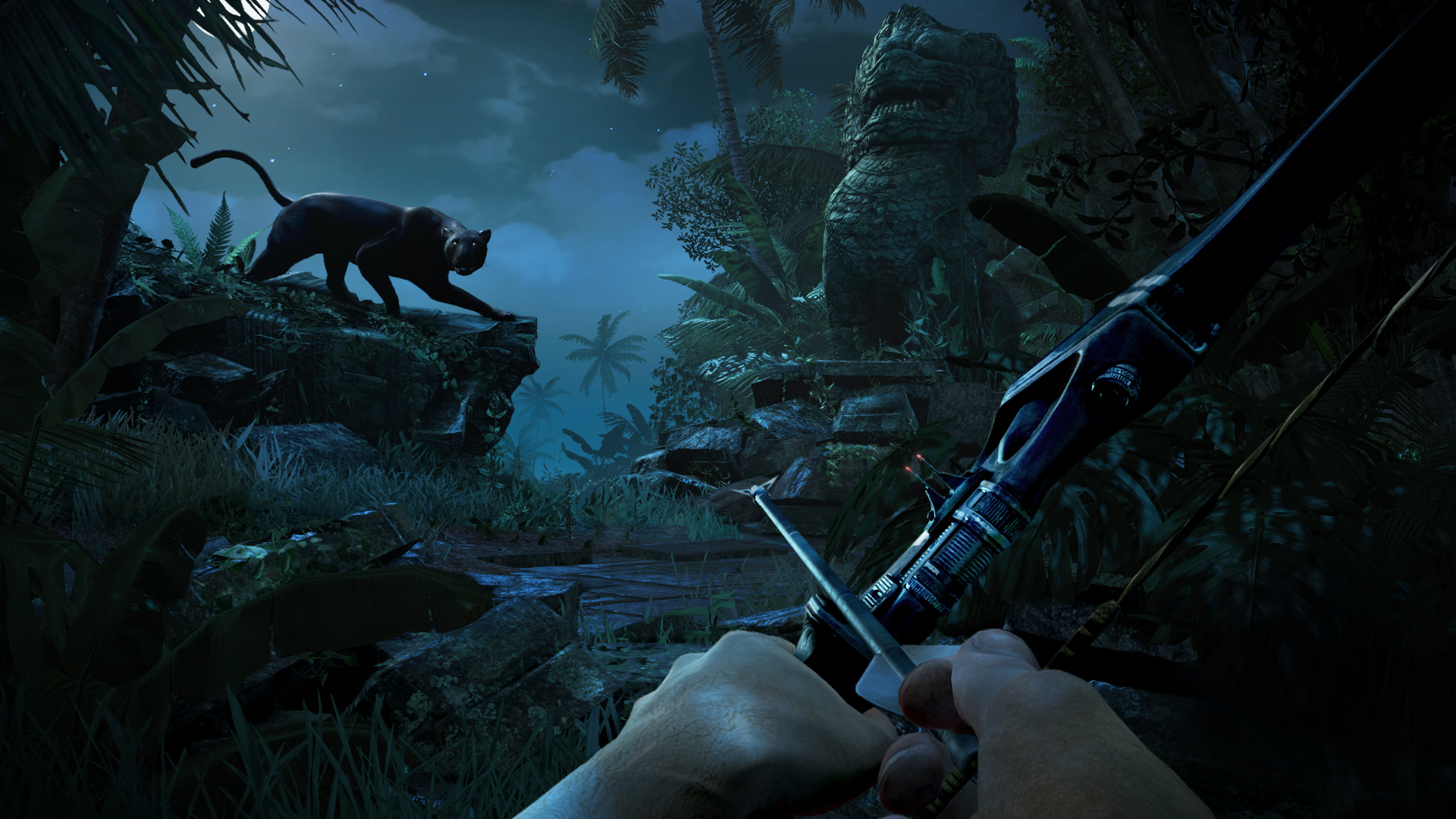 Far Cry 3 Animals Jaguar Jungle Trees Forest Hunting Archer Bow Wallpaper