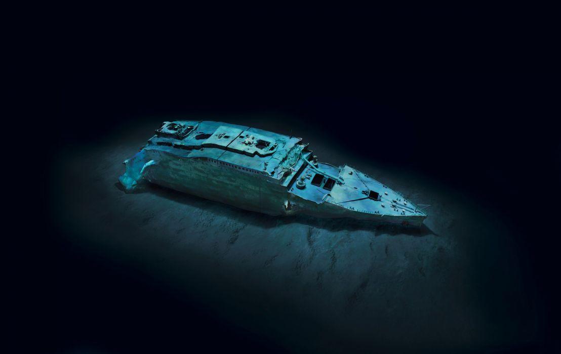 Titanic Ship Wreck Ruin Decay Movies Ocean Underwater Wallpaper