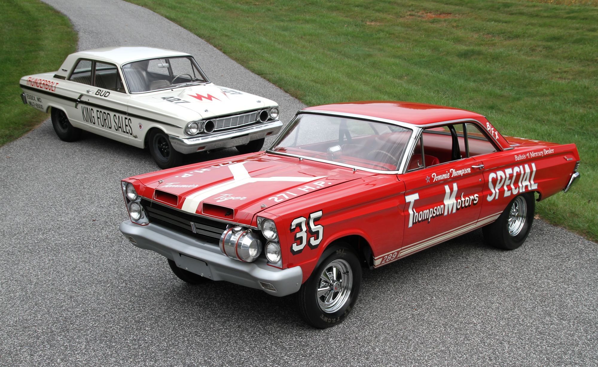 1964 Ford Thunderbolt drag racing race cars roads muscle